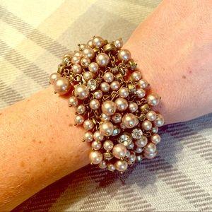 J.Crew Pearl-Diamond Shaker Bracelet